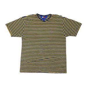 Vintage Tommy Hilfiger Striped Blue Yellow T Shirt